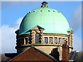 SO9198 : The dome of Darlington Street Methodist Church in Wolverhampton by Roger  Kidd