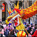 SJ8497 : Chinese Dragon, New Year Celebrations on Princess Street by David Dixon