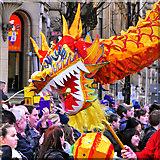 SJ8497 : Chinese Dragon, New Year Celebrations on Princess Street by David Dixon