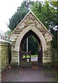 SP3609 : The lychgate at St. Mary's Church Cogges, Church Lane, Cogges, Witney, Oxon by P L Chadwick
