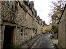 SP0202 : Bend in Coxwell Street, Cirencester by Jaggery