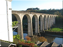 SX4368 : The Railway Viaduct at Calstock by Sarah Charlesworth
