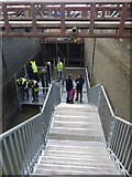 SK5702 : Steps leading down to the Freeman's Meadow Lock by Mat Fascione