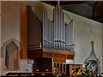TQ5203 : Alfriston: St. Andrew's Church: The Organ and Easter Sepulchre beyond by Michael Garlick