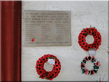 TF5520 : Terrington St Clement's World War Two Memorial by Adrian S Pye