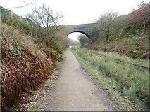 SK0397 : Road bridge over the Longdendale Trail by Christine Johnstone