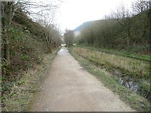 SK0397 : The Longdendale Trail, heading east by Christine Johnstone