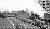 TQ2775 : Down Central Section goods, west of Clapham Junction, 1957 by Ben Brooksbank