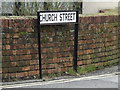 TL6001 : Church Street sign by Adrian Cable