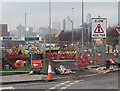 SE3133 : Cycle Superhighway construction, York Road, Leeds by Stephen Craven