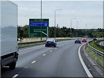 SE5209 : Southbound A1, Exit at Red House Interchange, Doncaster by David Dixon