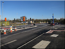 TL4259 : New junction on Madingley Road by Hugh Venables