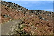 SK2384 : Path climbing towards Stanage Edge by David Martin