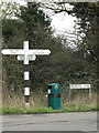 TL6002 : Roadsign & Redrose Lane sign by Adrian Cable