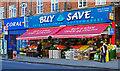 TQ2587 : Fruit for sale, Golders Green by Julian Osley