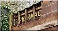 J3873 : Old pharmacy sign, Knock, Belfast (February 2016) by Albert Bridge