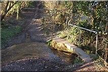 ST7263 : Ford and footbridge, Padleigh Bottom by Derek Harper