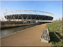 TQ3783 : Olympic Stadium and City Mill River by Des Blenkinsopp