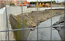 J3674 : New Connswater flood wall, Belfast (February 2016) by Albert Bridge