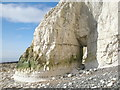 TV5397 : Natural arch below Rough Brow, Seven Sisters, East Sussex by Andrew Diack