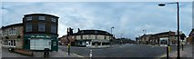 TF0920 : Panorama of Bourne Town centre by Bob Harvey