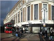 TQ1769 : 111 Bus at Kingston upon Thames Shopping Centre by James Emmans