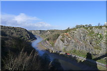 ST5673 : The River Avon in its gorge below Clifton Suspension Bridge by Tim Heaton