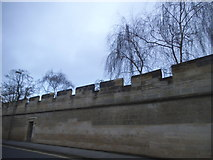 SP5106 : The long wall on Longwall Street, Oxford by David Howard