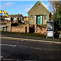 SM9310 : BT phonebox and The Oasis, St Peter's Road, Johnston by Jaggery
