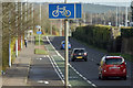 J3671 : Cycle lane, Cregagh, Belfast - February 2016(2) by Albert Bridge