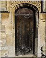 SK8262 : Priest's door, All Saints' church, Collingham by Julian P Guffogg