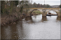 SE4843 : Bridge over the River Wharfe at Tadcaster by Ian S