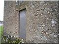SN0801 : St Florence Church - embedded gravestone by welshbabe