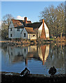 TM0733 : Flatford millpond and Willy Lott's House by John Sutton