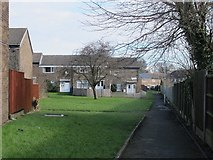 SE2434 : Footpath along the backs of houses on  Rossefield Grove by Stephen Craven