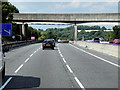 SK3598 : Northbound M1, Sliproad Flyover at Junction 35A by David Dixon
