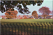 SJ7886 : Playing Field, Hale Barns by Anthony O'Neil
