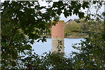 SX5052 : Pillar in Hooe Lake by N Chadwick