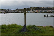 SX5052 : Footpath signpost, Hooe Lake by N Chadwick