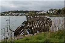 SX5053 : Wreck, Hooe Lake by N Chadwick
