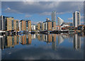 TQ3880 : Blackwall Basin, near Canary Wharf by Julian Osley