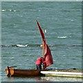 SK9205 : Dinghy sailor on Rutland Water by Alan Murray-Rust