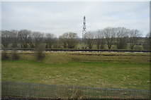 SJ8842 : Pylon across the Trent & Mersey Canal by N Chadwick