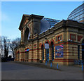 TQ2989 : Palm Court entrance, Alexandra Palace by Julian Osley