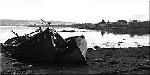 NM5643 : Salen wrecks, February 2016 by Peter Evans