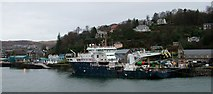NM8529 : NLV Pharos lighthouse tender moored at Oban by Peter Evans