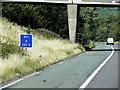 SE3009 : Driver Location Sign at Bence Lane Bridge by David Dixon