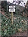 TQ7551 : Pre-Worboys Maidstone Rural District sign, High Banks, Loose by Chris Whippet