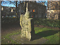 SD4761 : Medieval Knight sculpture by the Magistrates Court, Lancaster by Karl and Ali