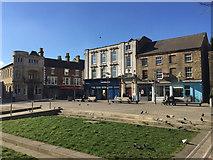 TL1998 : Pedestrian space west of St John's Church, Peterborough by Robin Stott